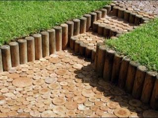 Экологичная идея бизнеса: садовые дорожки из спилов дерева