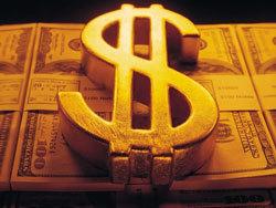 Курс доллара упал на 34,33 коп.