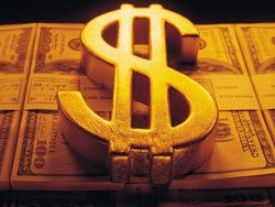 Доллар и евро снизились в цене в середине дня