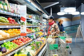 Продукты в России оказались дешевле, чем на Украине
