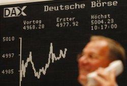 Евробиржи растут на позитиве из Германии