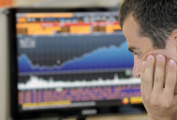 Рынок российских акций закрыл торги в глубоком минусе