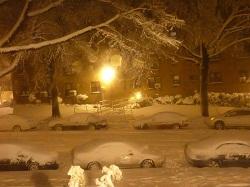 В США готовятся к снежной буре