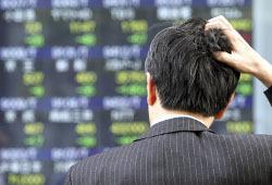 Рынок российских акций медленно падает